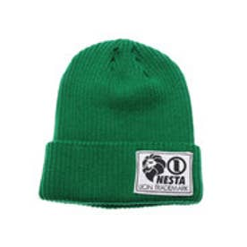 ネスタブランド Nesta Brand デカネームニット帽 (K.グリ-ン)