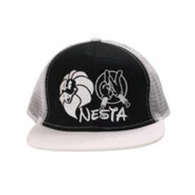ネスタブランド Nesta Brand 平つばメッシュキャップ (クロ)