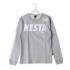 ネスタブランド Nesta Brand サガラ刺繍ロゴロンTee (M.グレ-)