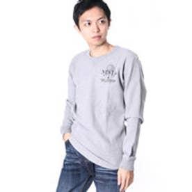 ネスタブランド Nesta Brand ビッグワッフルロンTee (M.グレ-)