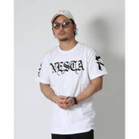 ネスタブランド Nesta Brand かすれフロッキーTee (シロ)