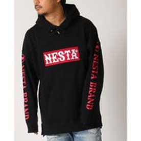 ネスタブランド Nesta Brand ビックシルエットプルパーカー (クロ)