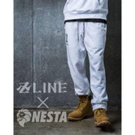 ネスタブランド Nesta Brand ベーシックロゴスウェットパンツ (シロ)