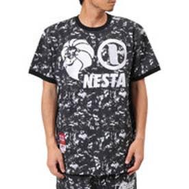 ネスタブランド Nesta Brand ムラプリントスウェットTEE (クロ)