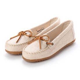 ミネトンカ Minnetonka CANBAS Moccasin Shoes リミテッドエディション【限定生産品】 (ナチュラル ベージュ)