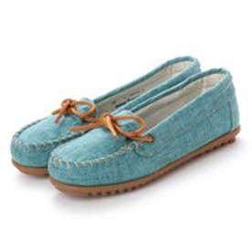 ミネトンカ Minnetonka CANBAS Moccasin Shoes リミテッドエディション【限定生産品】 (アクア ブルー)