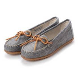 ミネトンカ Minnetonka CANBAS Moccasin Shoes リミテッドエディション【限定生産品】 (ブラック グレー)