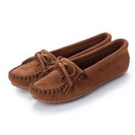 ミネトンカ Minnetonka KILTY Suede Moccasin Shoes (ダークブラウン)