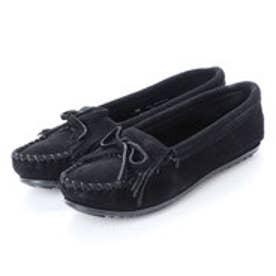 ミネトンカ Minnetonka KILTY Suede Moccasin Shoes (ブラック)