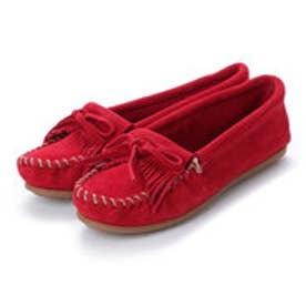 ミネトンカ Minnetonka KILTY Suede Moccasin Shoes (チェリー レッド)