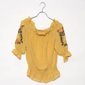 エムズエキサイト Emsexcite 袖刺繍オフショルBL (YEL)