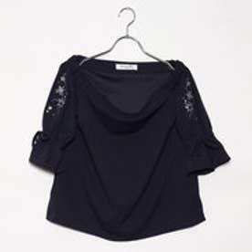 エムズエキサイト Emsexcite 袖刺繍オフショルCT (BLU)