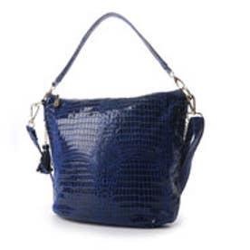 フィラノ FIRANO 【てんとう虫掲載】クロコ型押しフリンジ2WAYバッグ (BLUE)