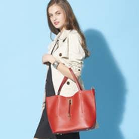 フィラノ FIRANO 【STORY5月号/ミセス掲載】スクエアチャーム付ビッグトートバッグ(Bag in Bag付) (RED)