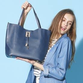 【大人気‼︎ HIT ITEM】フィラノ FIRANO 【STORY5月号/ミセス掲載】スクエアチャーム付ビッグトートバッグ(Bag in Bag付) (NAVY)
