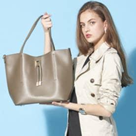 フィラノ FIRANO 【STORY5月号/ミセス掲載】スクエアチャーム付ビッグトートバッグ(Bag in Bag付) (GRAY)