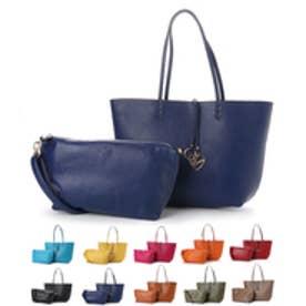 【大人気! HIT ITEM】フィラノ FIRANO 【GINGER掲載】チャーム付きリバーシブルトートバッグ(Bag in Bag付) (NAVY)