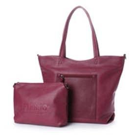 フィラノ FIRANO スクエアポケット付きコンビトートバッグ(Bag in Bag付) (RED)