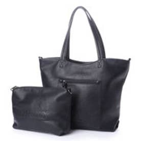 フィラノ FIRANO スクエアポケット付きコンビトートバッグ(Bag in Bag付) (BLACK)