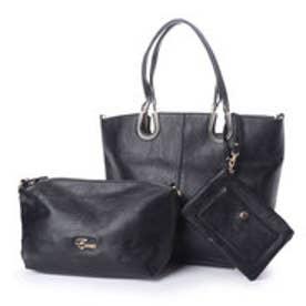 フィラノ FIRANO ポーチSET馬蹄モチーフスクエアトートバッグ(Bag in Bag付) (BLACK)