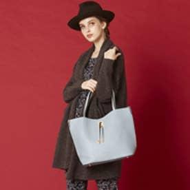 【大人気‼︎ HIT ITEM】フィラノ FIRANO 【STORY5月号/ミセス掲載】スクエアチャーム付ビッグトートバッグ(Bag in Bag付) (L.BLUE)