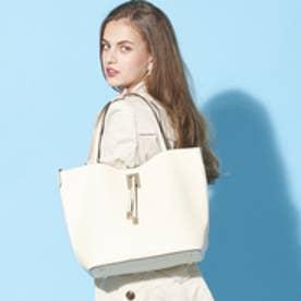 【大人気‼︎ HIT ITEM】フィラノ FIRANO 【STORY/ミセス掲載】スクエアチャーム付ビッグトートバッグ(Bag in Bag付) (IVORY)