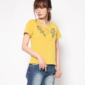 レトロガール RETRO GIRL レースup刺繍テレコP/O (YEL)
