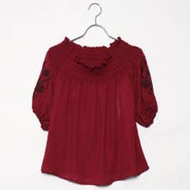 レトロガール RETRO GIRL オフショル 袖刺繍 BL (RED)