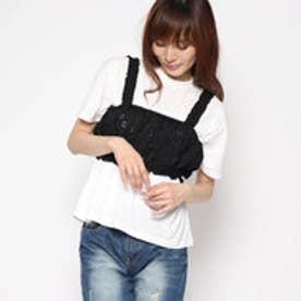 レトロガール RETRO GIRL 刺繍 ビスチェ (BLK)