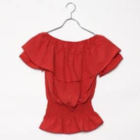 レトロガール RETRO GIRL ウエスト シャーリング オフショルBL (RED)