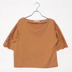レトロガール RETRO GIRL 袖刺繍フレア/SCT (BRN)
