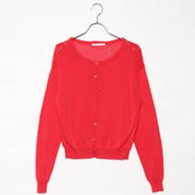 レトロガール RETRO GIRL シンプルカーディガン (RED)