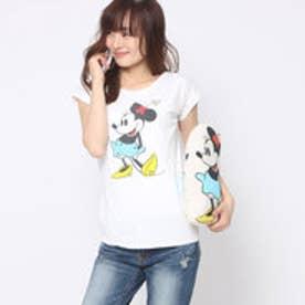 スパイラルガール プロデュースド バイ ルーミィーズ SPIRAL GIRL produced by Roomy's OUTLET ミニークッションTシャツ (オフホワイト)