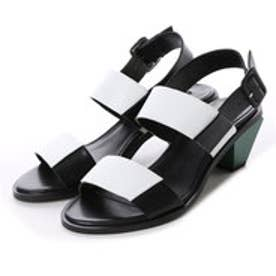 マンゴ MANGO Contrast heel sandals (black)
