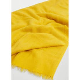 MANGO Frayed edge scarf (bright yellow)