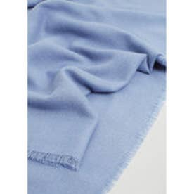 MANGO Frayed edge scarf (medium blue)
