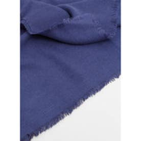 MANGO Frayed edge scarf (navy)