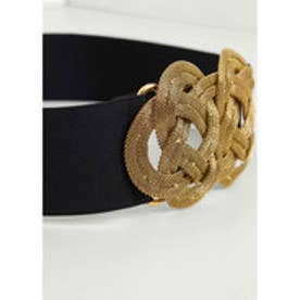 MANGO appliqueelastic belt (black)