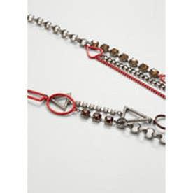 マンゴ MANGO Crystal chain necklace (gold)