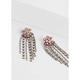 マンゴ MANGO Faceted crystal earring (silver)【両耳】【ピアス】