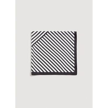 スカーフ .-- STRIPE (ブラック)