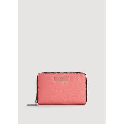 二つ折り財布 M-- BADU (ブライトレッド)