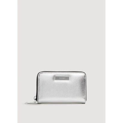 二つ折り財布 M-- BADU (シルバー)