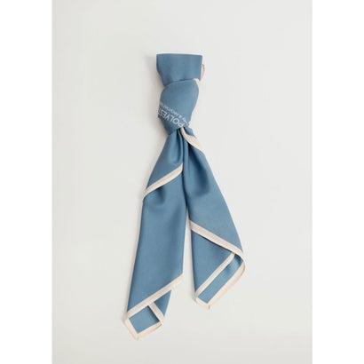 スカーフ .-- CARE (ミディアムブルー)
