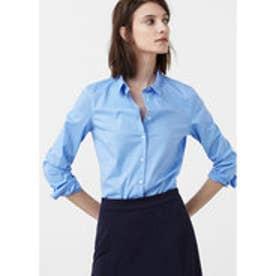 マンゴ MANGO Poplin shirt (lt-pastel blue)