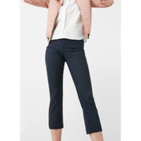 MANGO Cotton trousers (navy)