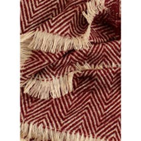 MANGO Striped scarf (dark red)