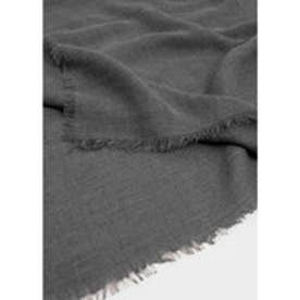 MANGO Frayed edge scarf (grey)