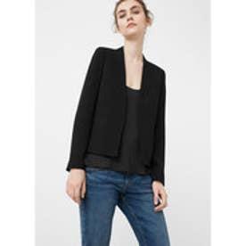 マンゴ MANGO Essential structured blazer (black)