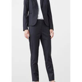 マンゴ MANGO Straight suit trousers (medium grey)